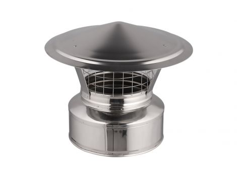 "4"" Rain cap with spark arrester"