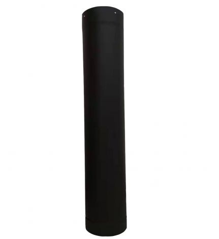 "4"" Single wall black pipe L=40"""